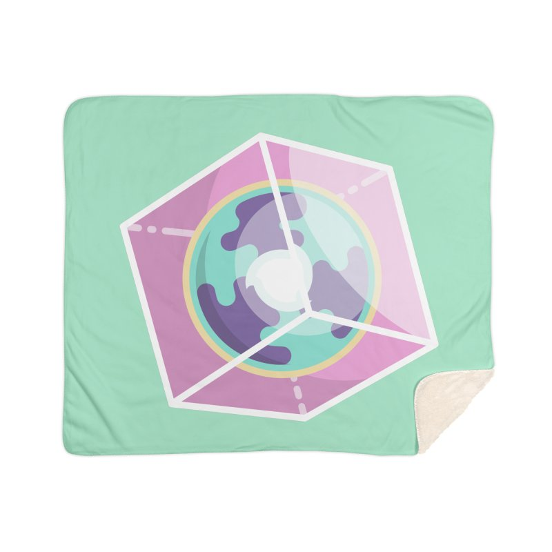 The Librarian Cube Dimensional Key Home Sherpa Blanket Blanket by Flaming Imp's Artist Shop