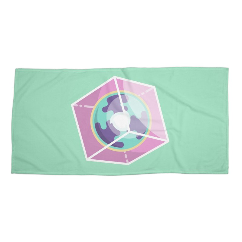 The Librarian Cube Dimensional Key Accessories Beach Towel by Flaming Imp's Artist Shop
