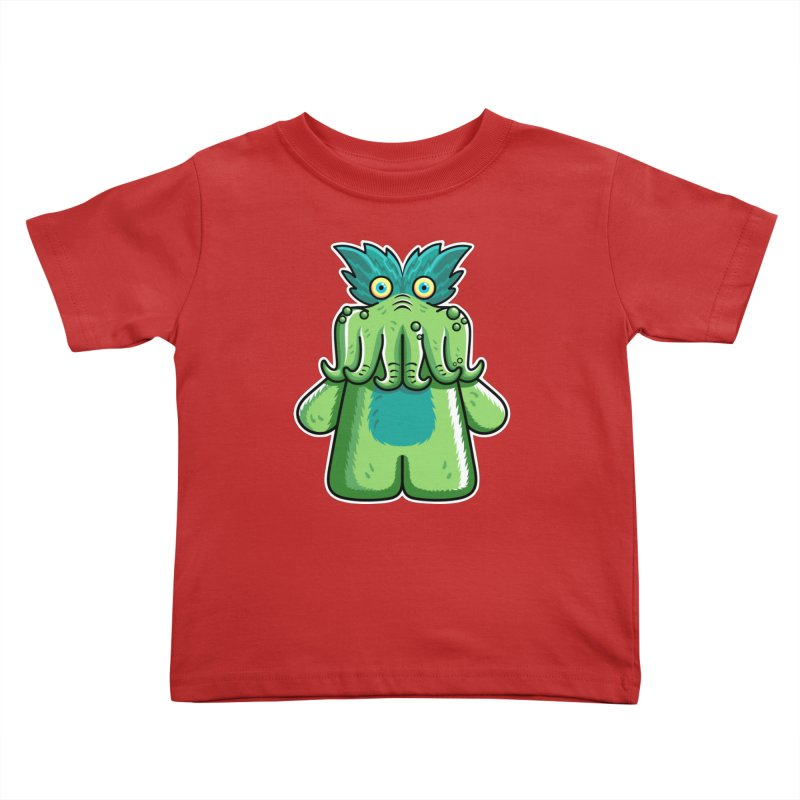 Black Friday Tickle-Me-Wiggly Kids Toddler T-Shirt by Flaming Imp's Artist Shop
