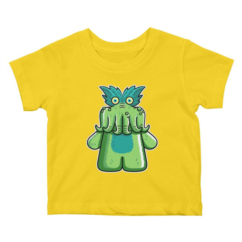 Black Friday Tickle-Me-Wiggly Kids Baby T-Shirt by Flaming Imp's Artist Shop