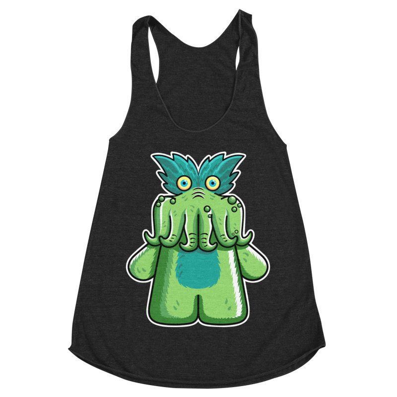 Black Friday Tickle-Me-Wiggly Women's Racerback Triblend Tank by Flaming Imp's Artist Shop