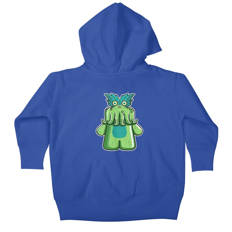Black Friday Tickle-Me-Wiggly Kids Baby Zip-Up Hoody by Flaming Imp's Artist Shop