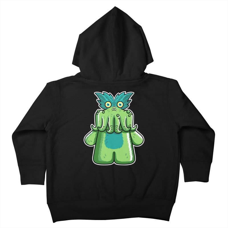 Black Friday Tickle-Me-Wiggly Kids Toddler Zip-Up Hoody by Flaming Imp's Artist Shop