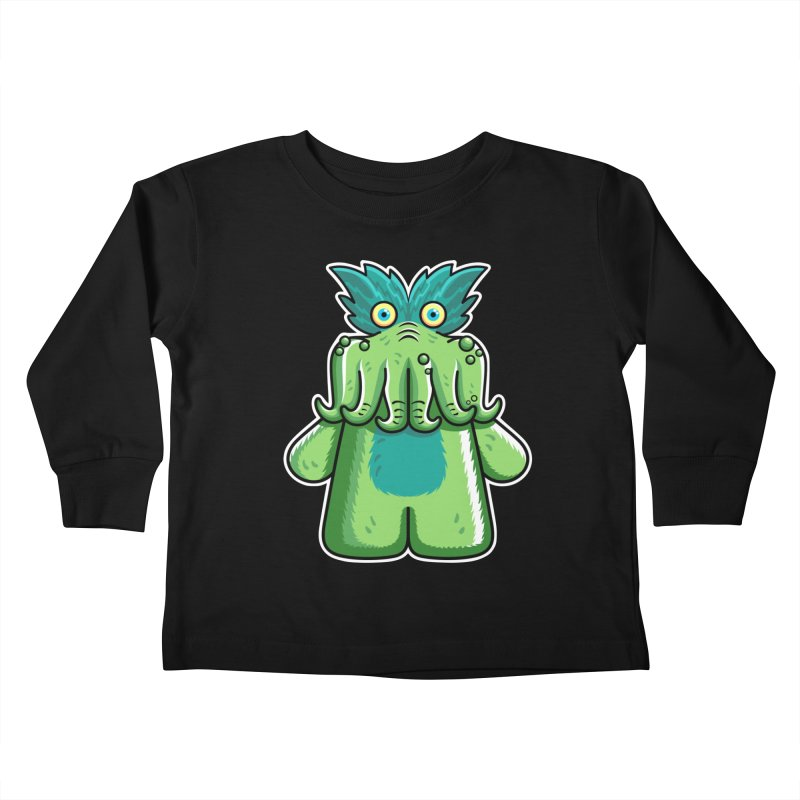 Black Friday Tickle-Me-Wiggly Kids Toddler Longsleeve T-Shirt by Flaming Imp's Artist Shop