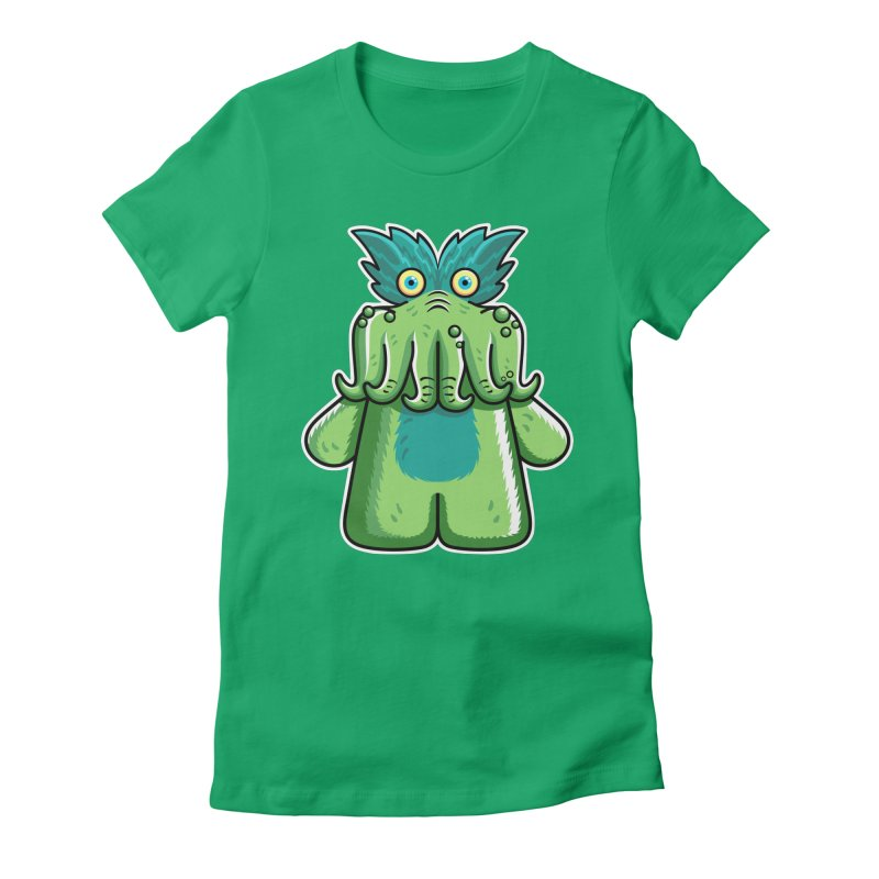 Black Friday Tickle-Me-Wiggly Women's Fitted T-Shirt by Flaming Imp's Artist Shop