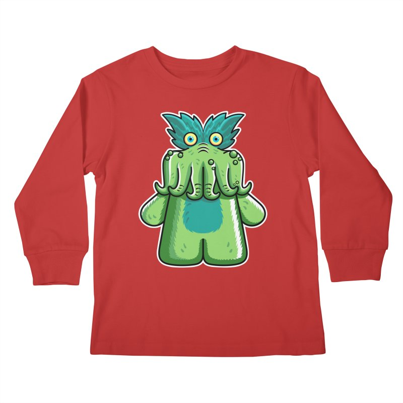 Black Friday Tickle-Me-Wiggly Kids Longsleeve T-Shirt by Flaming Imp's Artist Shop