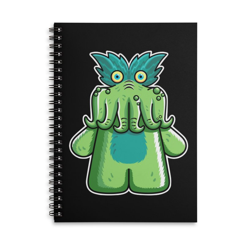Black Friday Tickle-Me-Wiggly Accessories Lined Spiral Notebook by Flaming Imp's Artist Shop