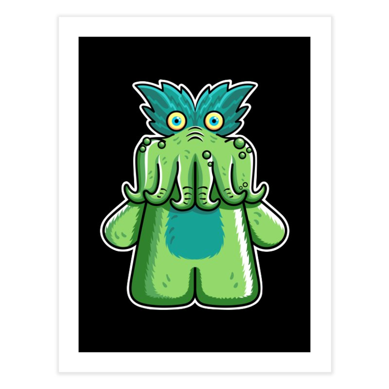 Black Friday Tickle-Me-Wiggly Home Fine Art Print by Flaming Imp's Artist Shop