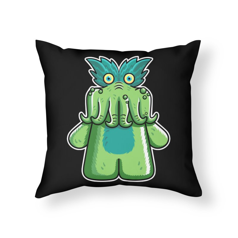 Black Friday Tickle-Me-Wiggly Home Throw Pillow by Flaming Imp's Artist Shop