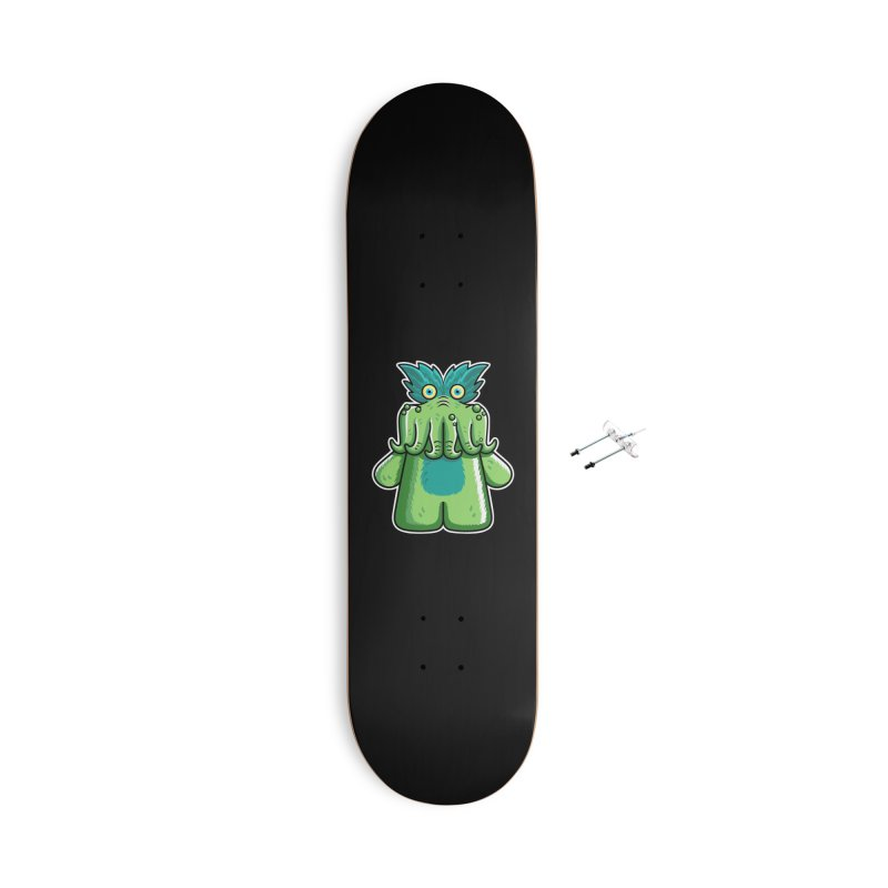Black Friday Tickle-Me-Wiggly Accessories With Hanging Hardware Skateboard by Flaming Imp's Artist Shop
