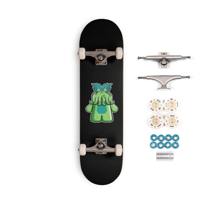 Black Friday Tickle-Me-Wiggly Accessories Complete - Premium Skateboard by Flaming Imp's Artist Shop