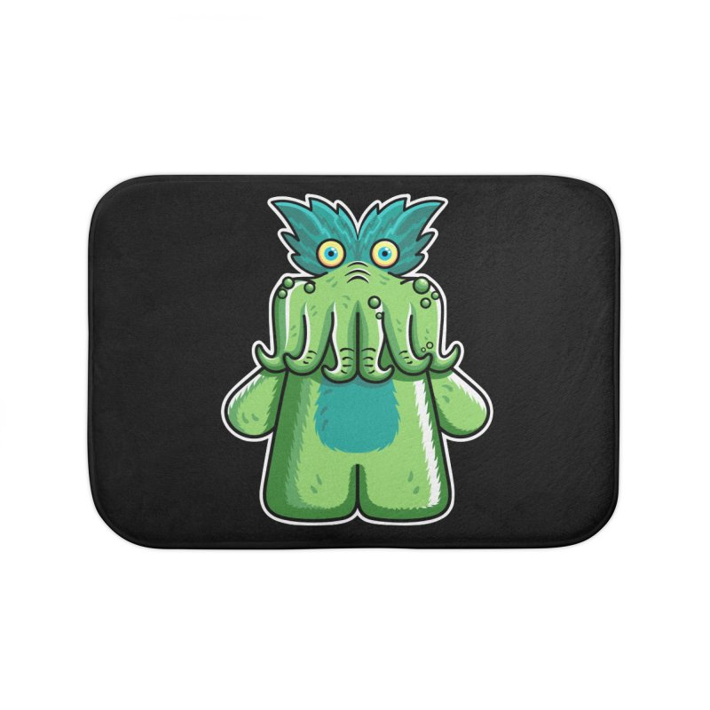 Black Friday Tickle-Me-Wiggly Home Bath Mat by Flaming Imp's Artist Shop