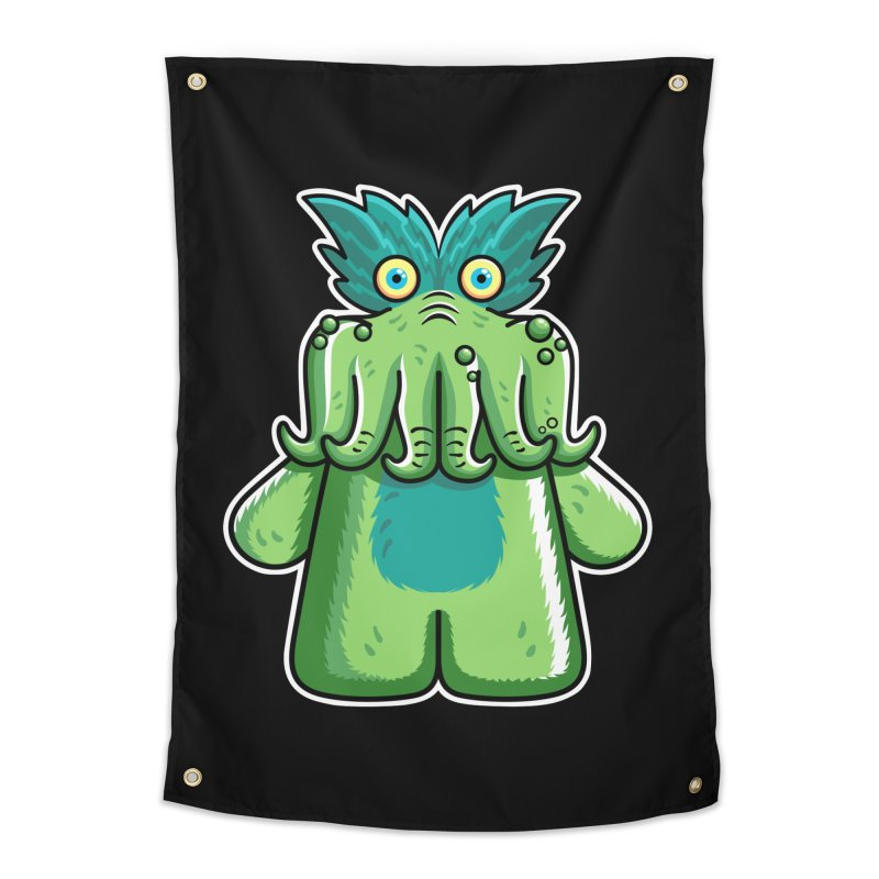 Black Friday Tickle-Me-Wiggly Home Tapestry by Flaming Imp's Artist Shop