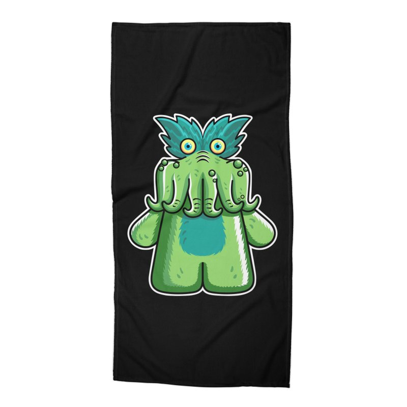 Black Friday Tickle-Me-Wiggly Accessories Beach Towel by Flaming Imp's Artist Shop