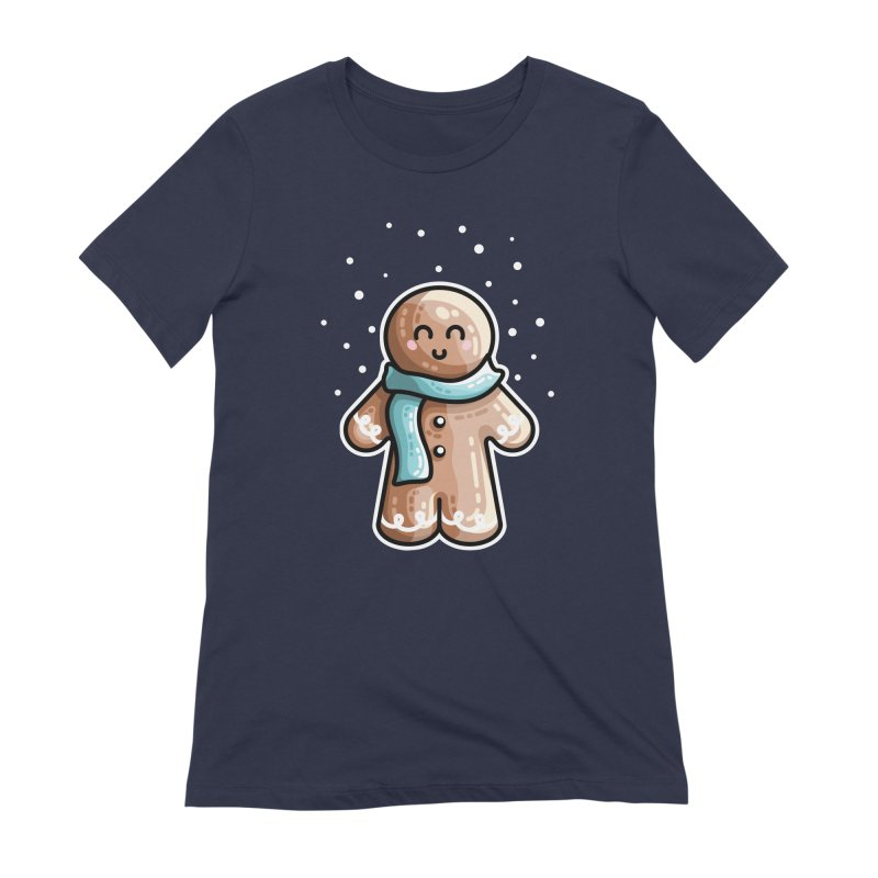 Kawaii Cute Gingerbread Person Women's Extra Soft T-Shirt by Flaming Imp's Artist Shop