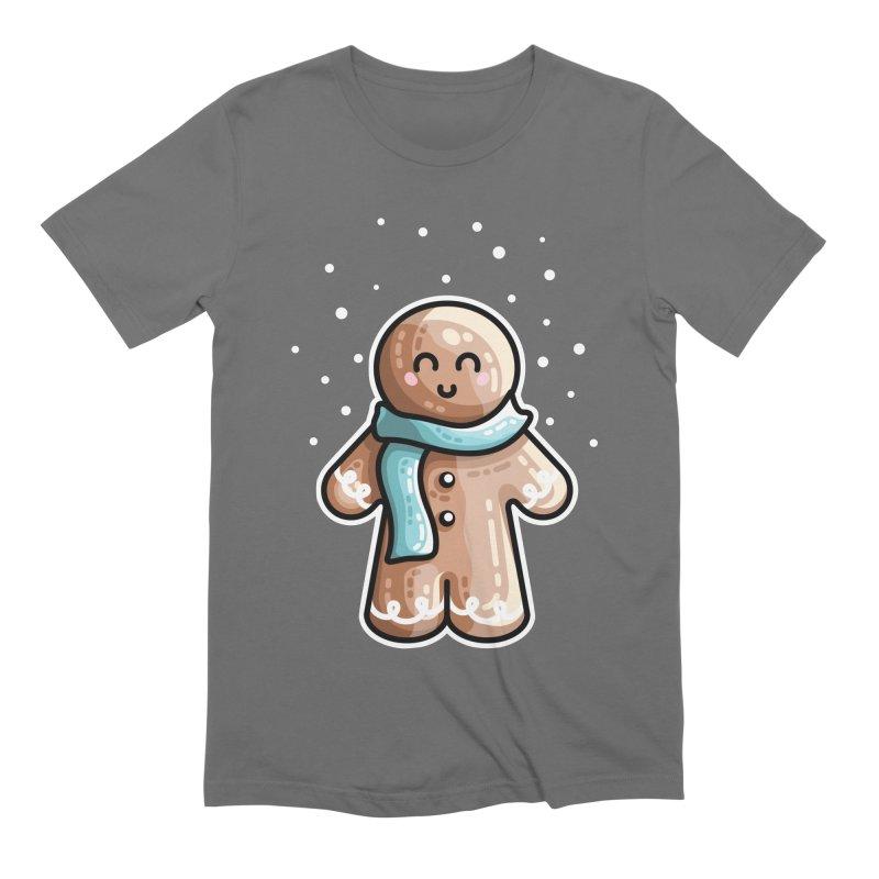 Kawaii Cute Gingerbread Person Men's T-Shirt by Flaming Imp's Artist Shop