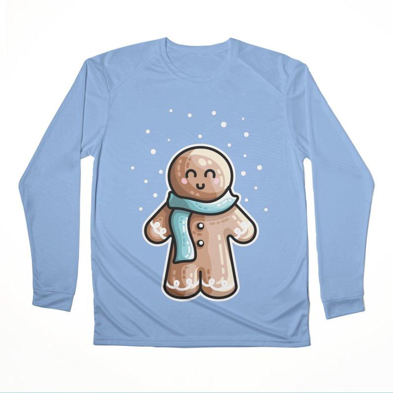 Kawaii Cute Gingerbread Person Men's Performance Longsleeve T-Shirt by Flaming Imp's Artist Shop