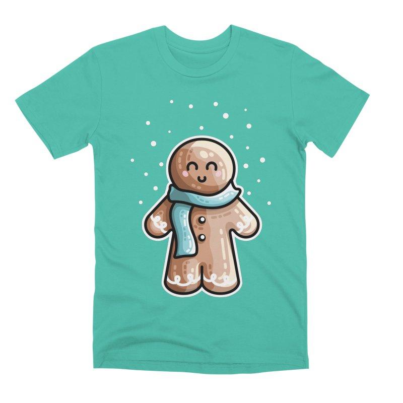Kawaii Cute Gingerbread Person Men's Premium T-Shirt by Flaming Imp's Artist Shop