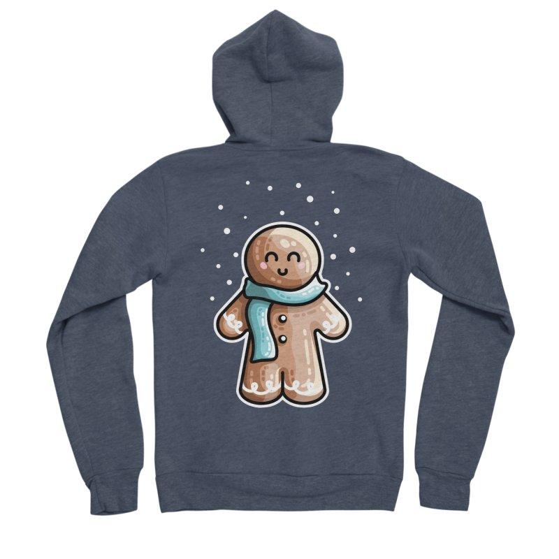 Kawaii Cute Gingerbread Person Men's Sponge Fleece Zip-Up Hoody by Flaming Imp's Artist Shop