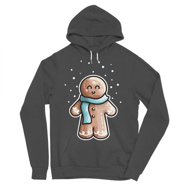 Kawaii Cute Gingerbread Person Men's Sponge Fleece Pullover Hoody by Flaming Imp's Artist Shop