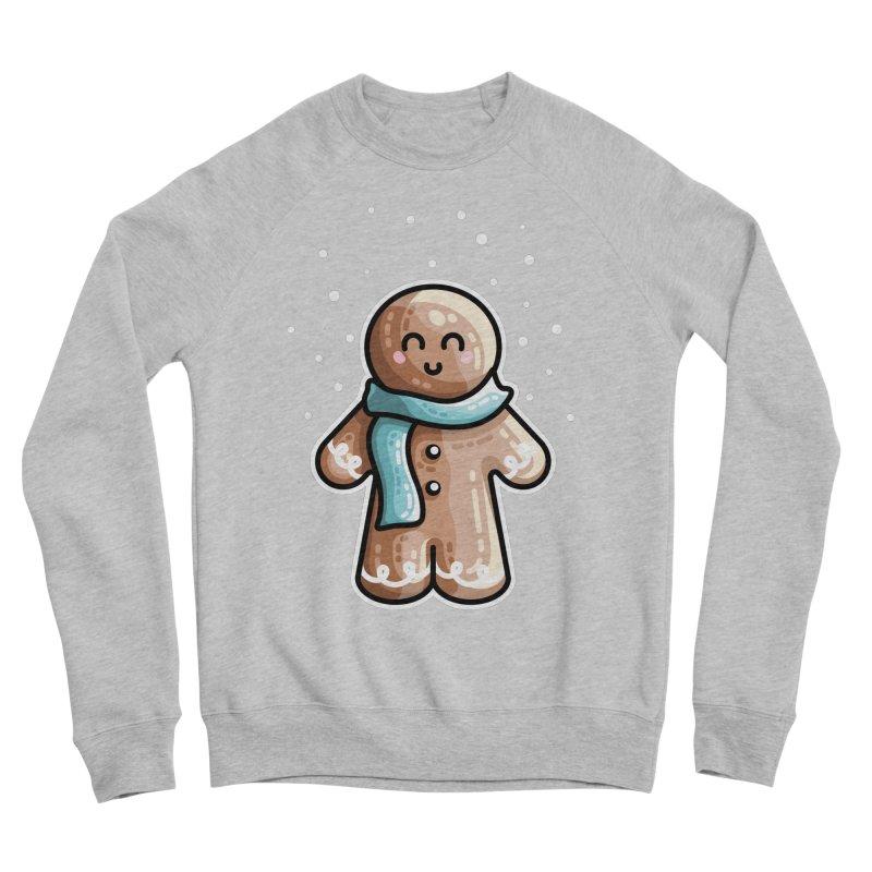 Kawaii Cute Gingerbread Person Men's Sponge Fleece Sweatshirt by Flaming Imp's Artist Shop
