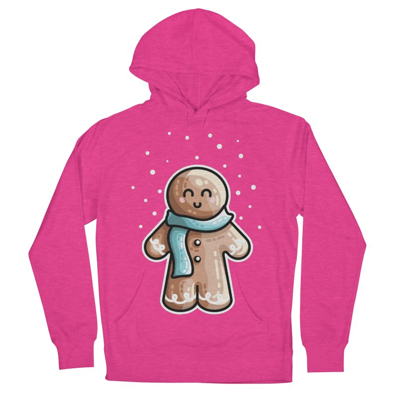 Kawaii Cute Gingerbread Person Women's French Terry Pullover Hoody by Flaming Imp's Artist Shop