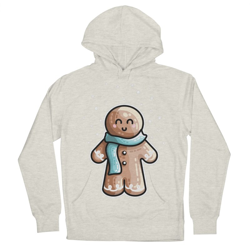 Kawaii Cute Gingerbread Person Men's French Terry Pullover Hoody by Flaming Imp's Artist Shop