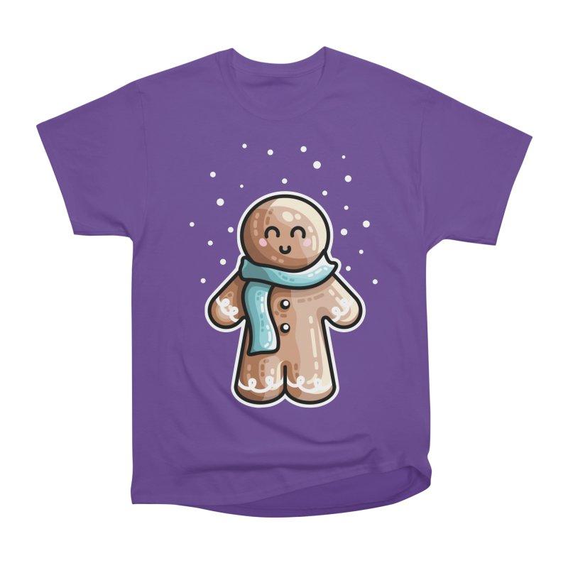Kawaii Cute Gingerbread Person Men's Heavyweight T-Shirt by Flaming Imp's Artist Shop