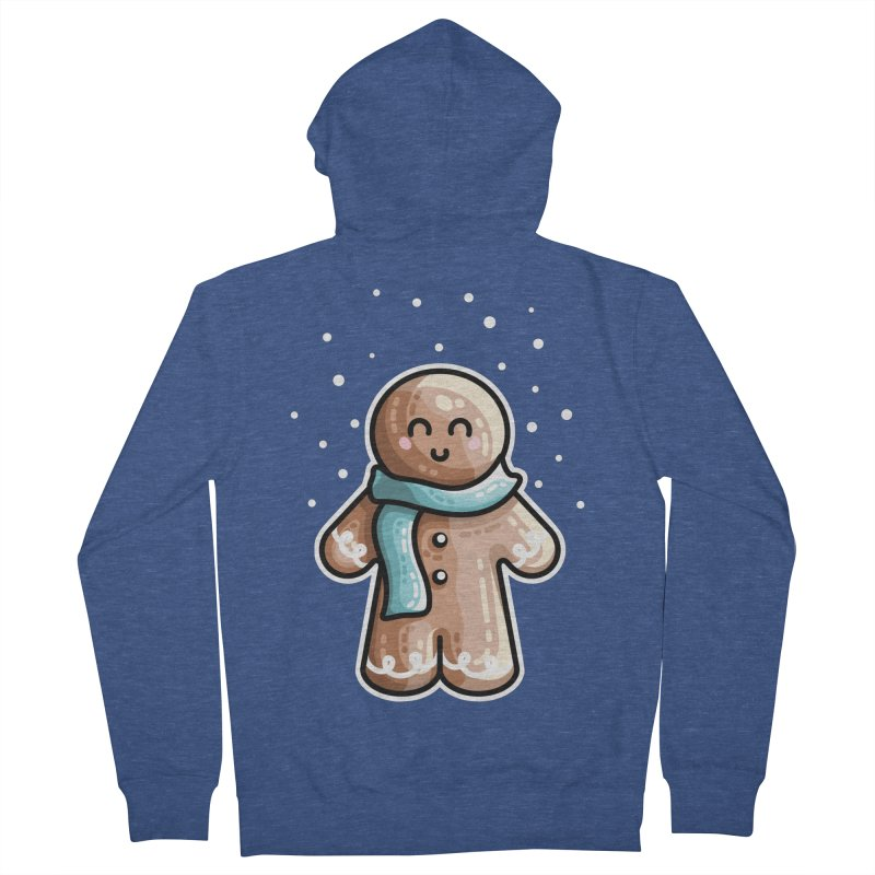 Kawaii Cute Gingerbread Person Women's French Terry Zip-Up Hoody by Flaming Imp's Artist Shop