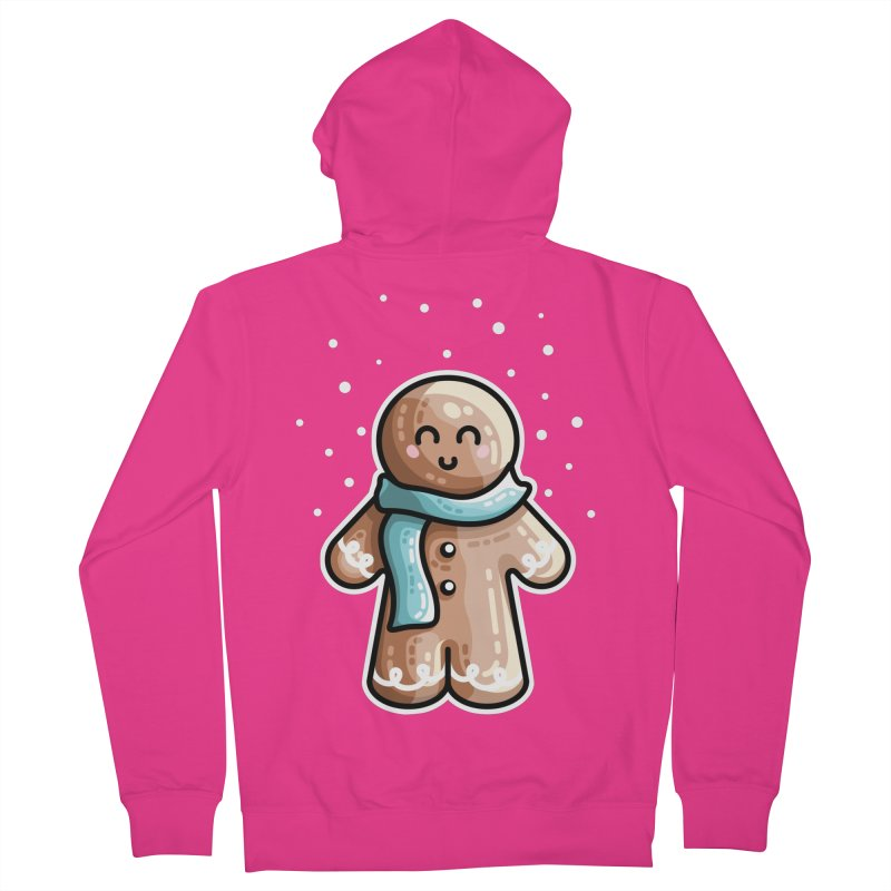 Kawaii Cute Gingerbread Person Men's French Terry Zip-Up Hoody by Flaming Imp's Artist Shop