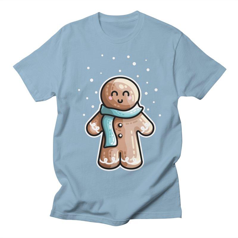 Kawaii Cute Gingerbread Person Women's Regular Unisex T-Shirt by Flaming Imp's Artist Shop