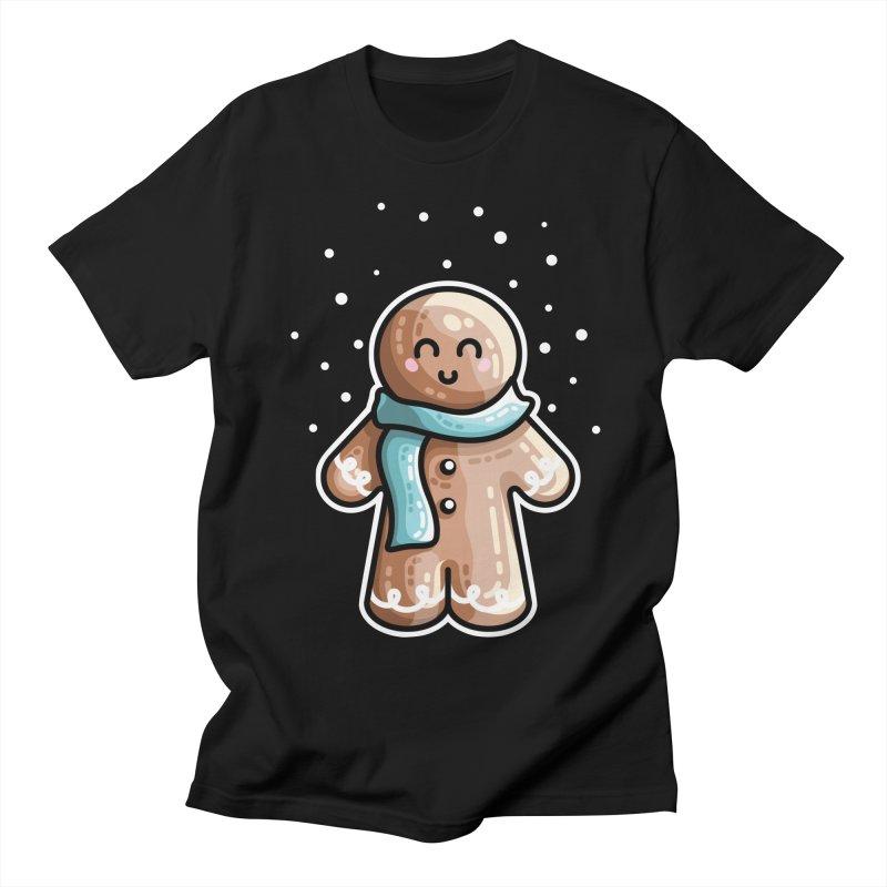 Kawaii Cute Gingerbread Person Men's Regular T-Shirt by Flaming Imp's Artist Shop