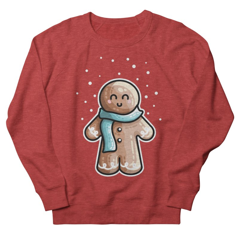 Kawaii Cute Gingerbread Person Men's French Terry Sweatshirt by Flaming Imp's Artist Shop