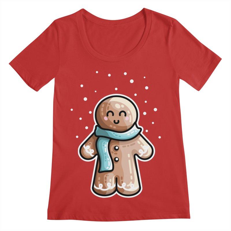 Kawaii Cute Gingerbread Person Women's Regular Scoop Neck by Flaming Imp's Artist Shop