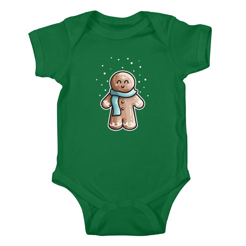 Kawaii Cute Gingerbread Person Kids Baby Bodysuit by Flaming Imp's Artist Shop