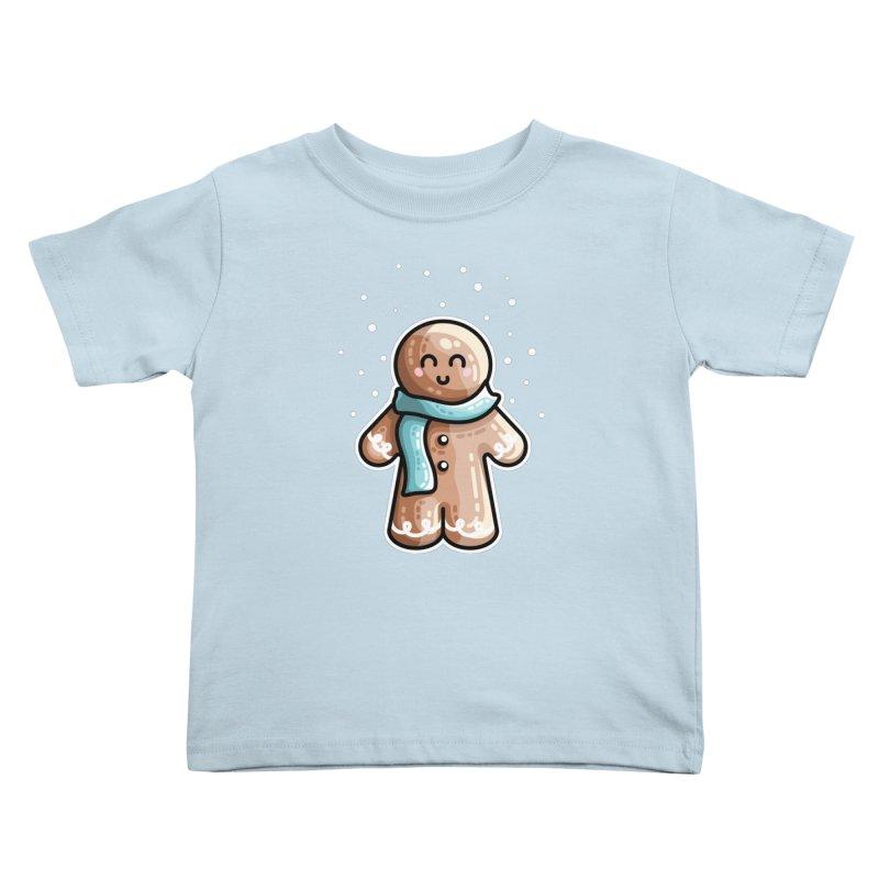 Kawaii Cute Gingerbread Person Kids Toddler T-Shirt by Flaming Imp's Artist Shop