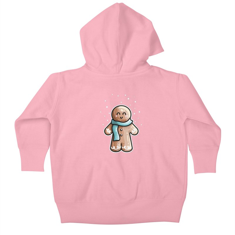 Kawaii Cute Gingerbread Person Kids Baby Zip-Up Hoody by Flaming Imp's Artist Shop