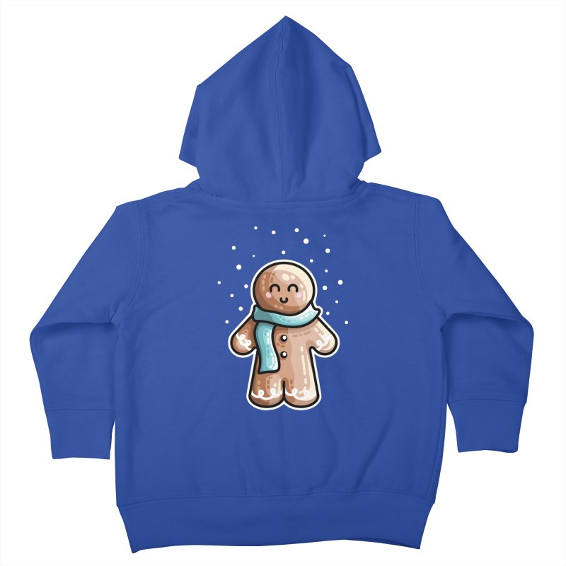 Kawaii Cute Gingerbread Person Kids Toddler Zip-Up Hoody by Flaming Imp's Artist Shop