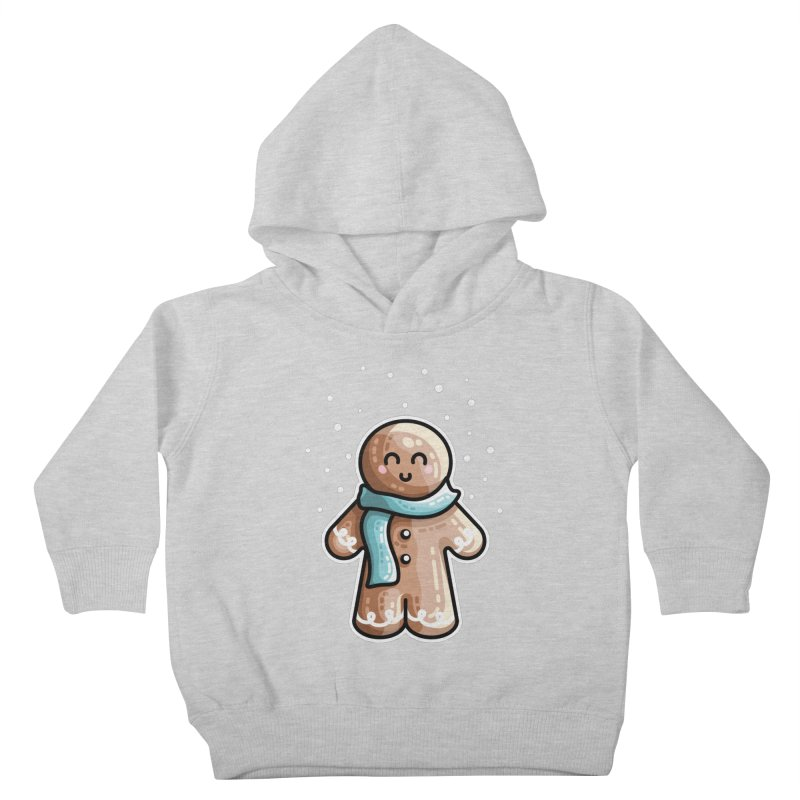 Kawaii Cute Gingerbread Person Kids Toddler Pullover Hoody by Flaming Imp's Artist Shop