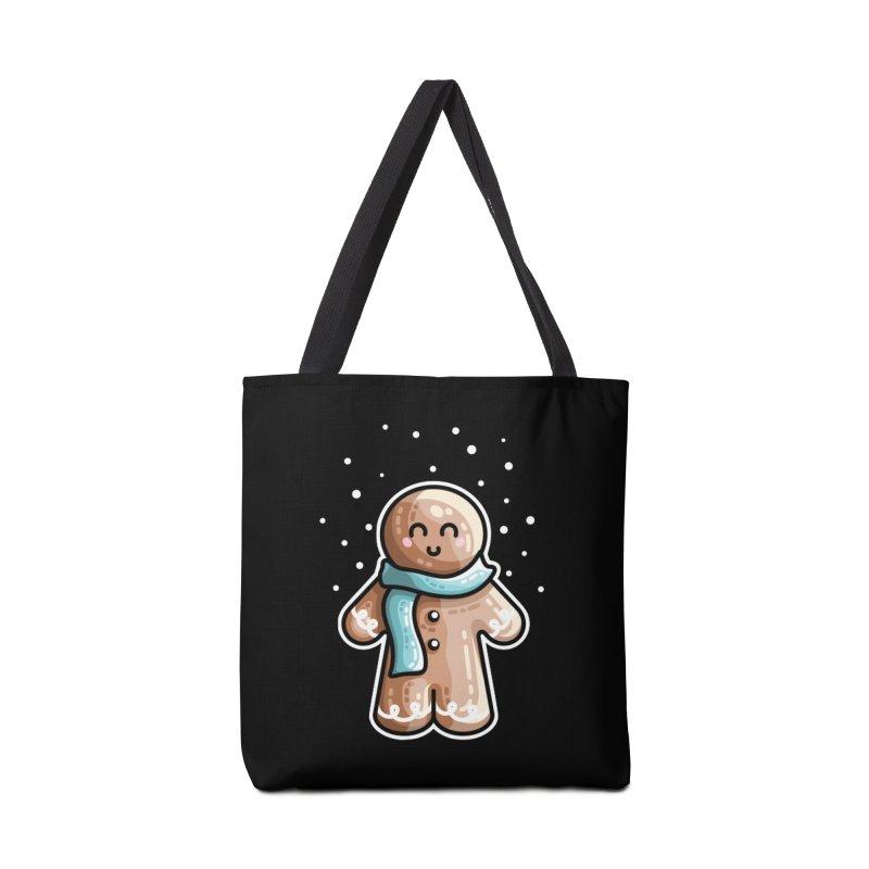 Kawaii Cute Gingerbread Person Accessories Tote Bag Bag by Flaming Imp's Artist Shop