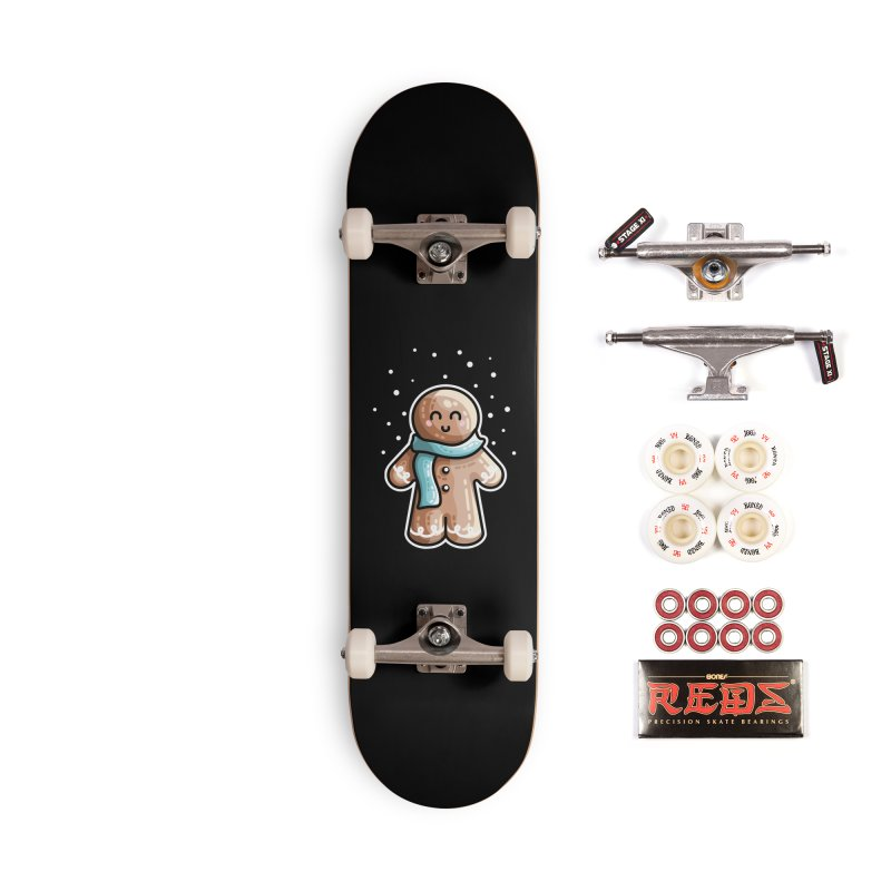 Kawaii Cute Gingerbread Person Accessories Complete - Pro Skateboard by Flaming Imp's Artist Shop