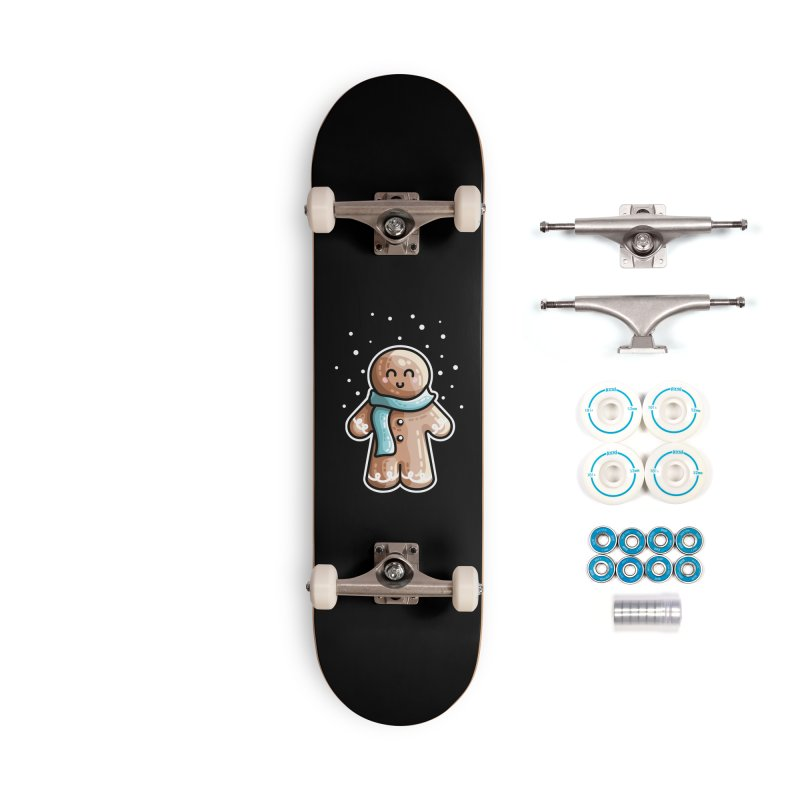 Kawaii Cute Gingerbread Person Accessories Complete - Basic Skateboard by Flaming Imp's Artist Shop