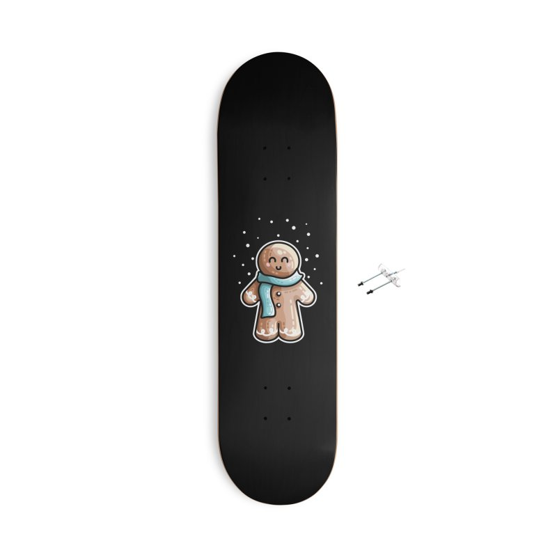 Kawaii Cute Gingerbread Person Accessories With Hanging Hardware Skateboard by Flaming Imp's Artist Shop