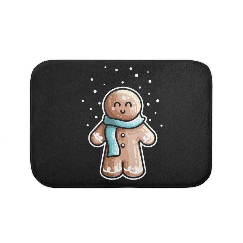Kawaii Cute Gingerbread Person Home Bath Mat by Flaming Imp's Artist Shop