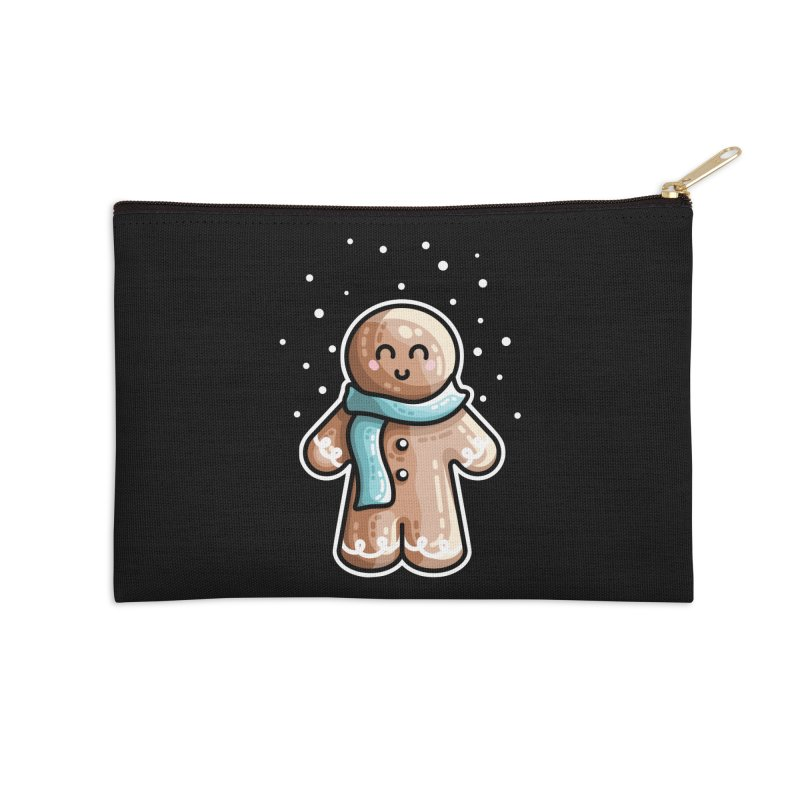 Kawaii Cute Gingerbread Person Accessories Zip Pouch by Flaming Imp's Artist Shop