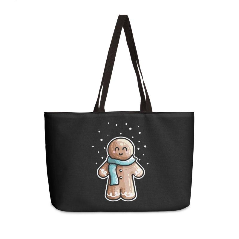 Kawaii Cute Gingerbread Person Accessories Weekender Bag Bag by Flaming Imp's Artist Shop