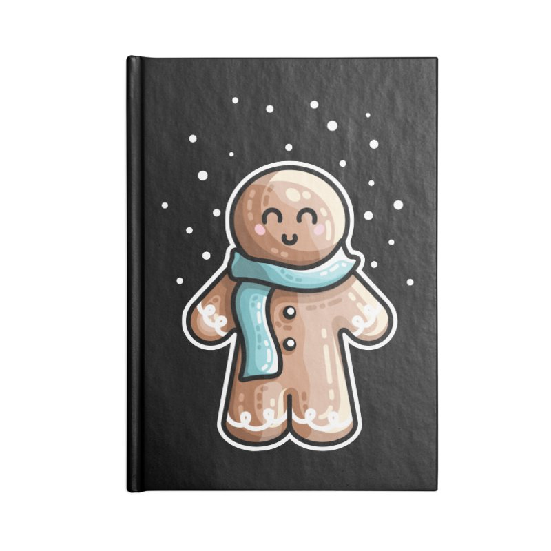 Kawaii Cute Gingerbread Person Accessories Blank Journal Notebook by Flaming Imp's Artist Shop