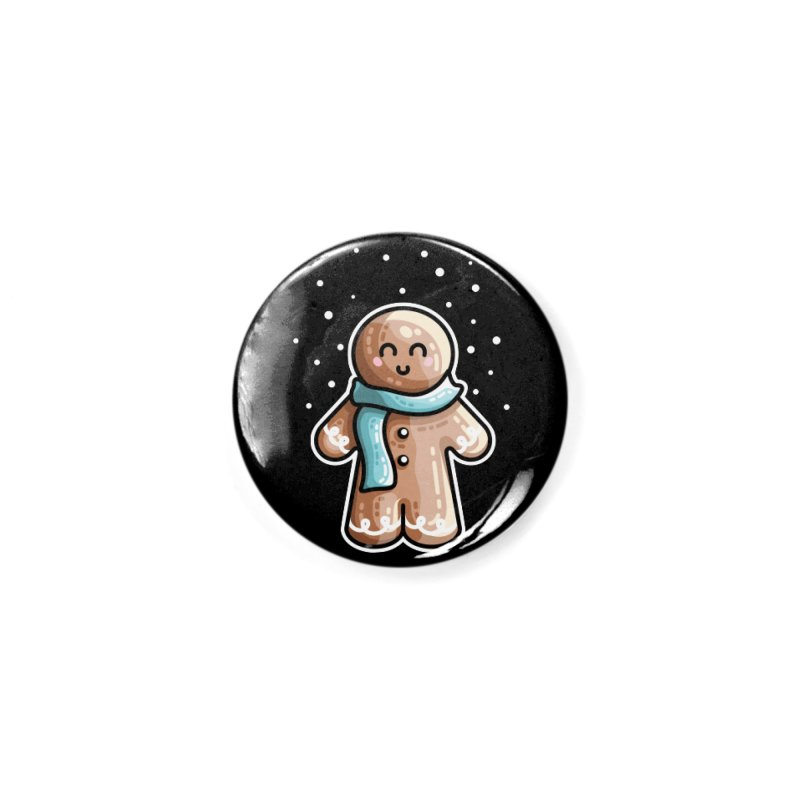 Kawaii Cute Gingerbread Person Accessories Button by Flaming Imp's Artist Shop