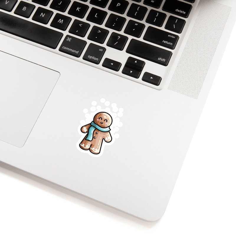 Kawaii Cute Gingerbread Person Accessories Sticker by Flaming Imp's Artist Shop