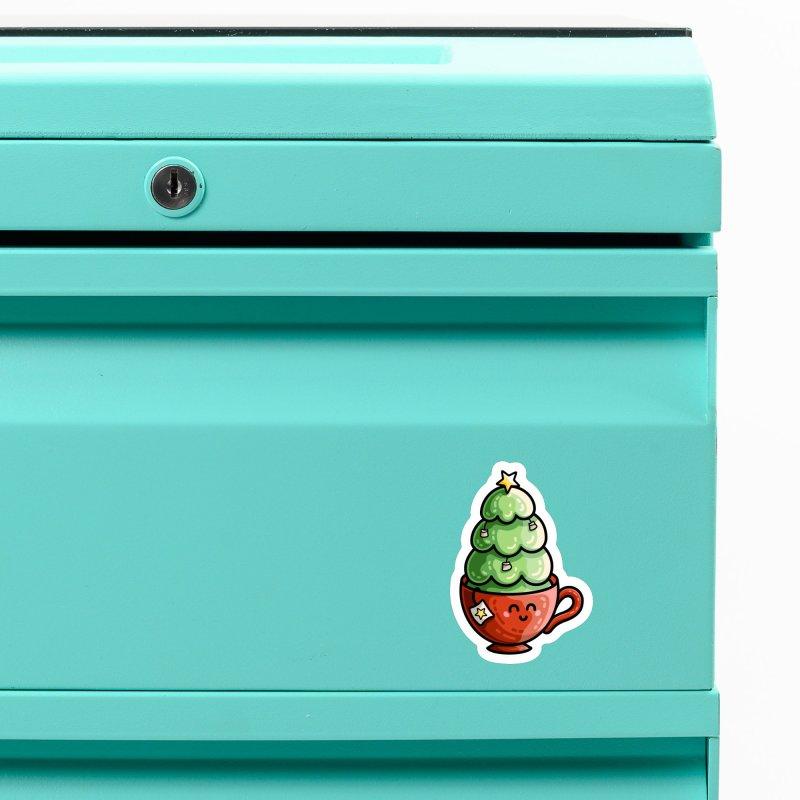 Christmas Tea Pun Accessories Magnet by Flaming Imp's Artist Shop